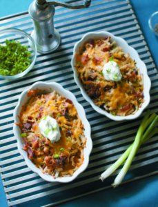 Bacon Potato Catfish Casseroles